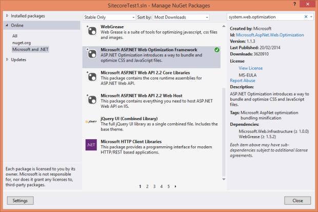 MicrosoftAspNetWebOptimization-NuGet