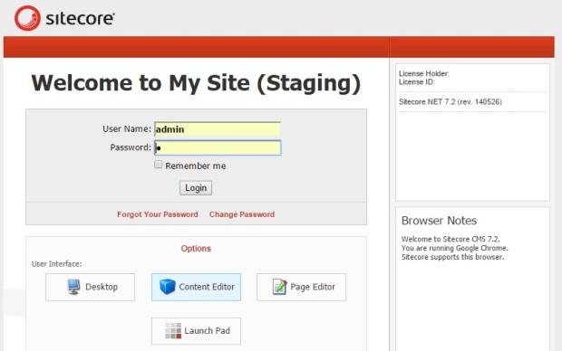 Sitecore Custom Welcome Title