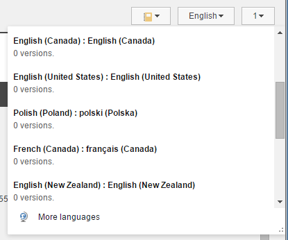 Language Selector with Poland