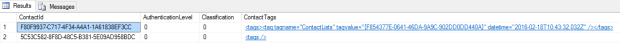 List Tag on Contact SQL