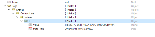 List Tag on Contact