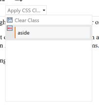 CSS drop down